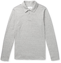 Reigning Champ Knitted Mélange Cotton Polo Shirt