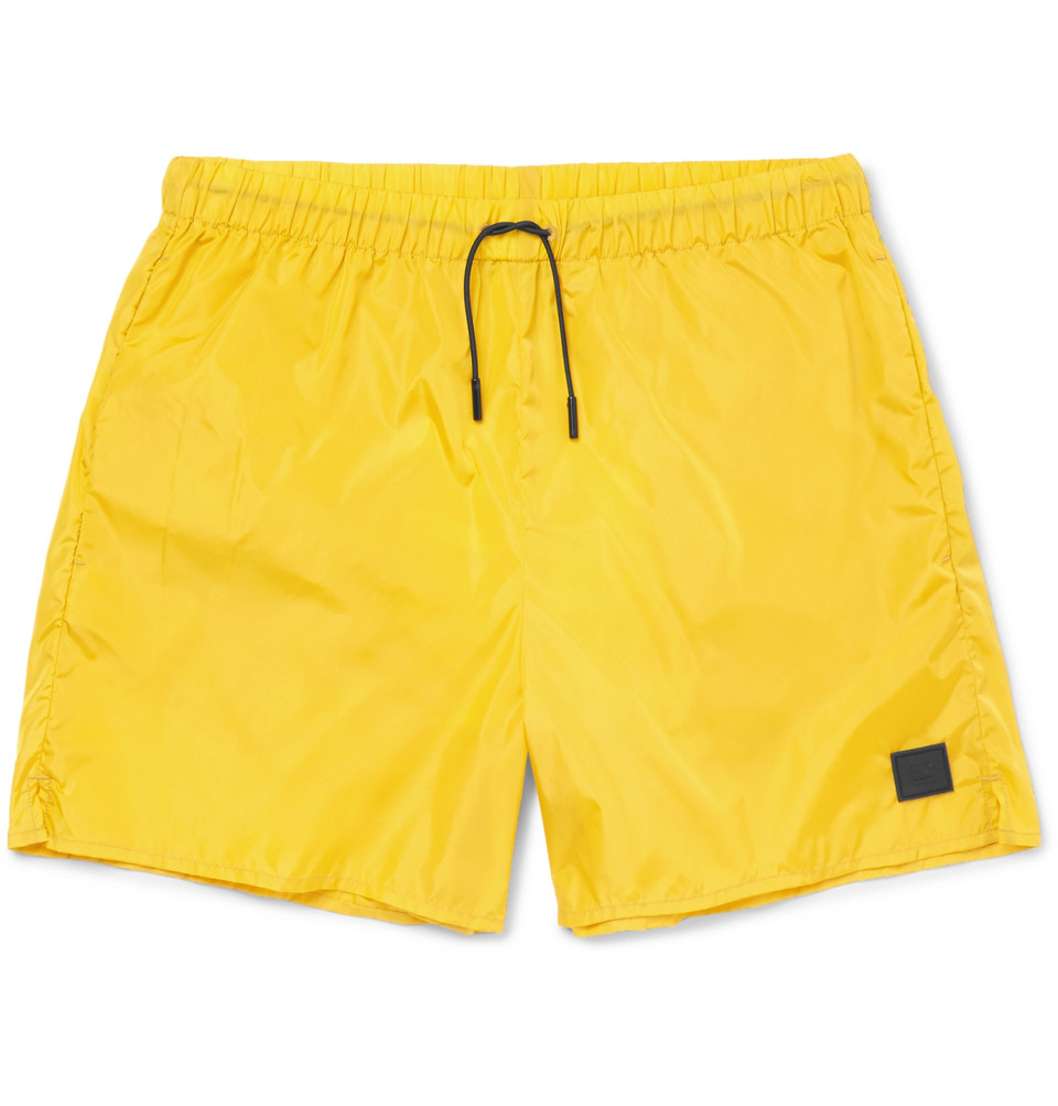 Perry Mid-length Swim Shorts - Yellow