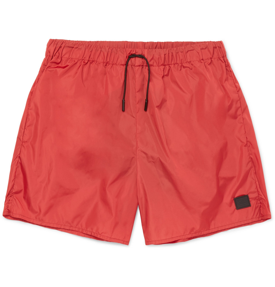Perry Mid-length Swim Shorts - Red