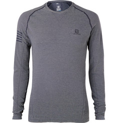 Salomon Pulse Seamless Striped Stretch-Jersey T-Shirt