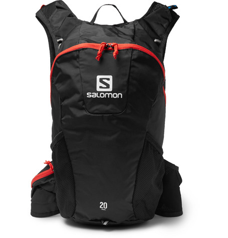 chaussures de séparation d1d6a 46c90 Salomon Trail 20 Nylon Backpack In Black | ModeSens