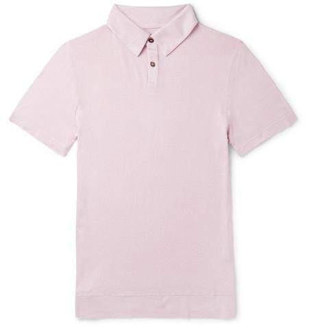 Slub Cotton And Cashmere-blend Polo Shirt