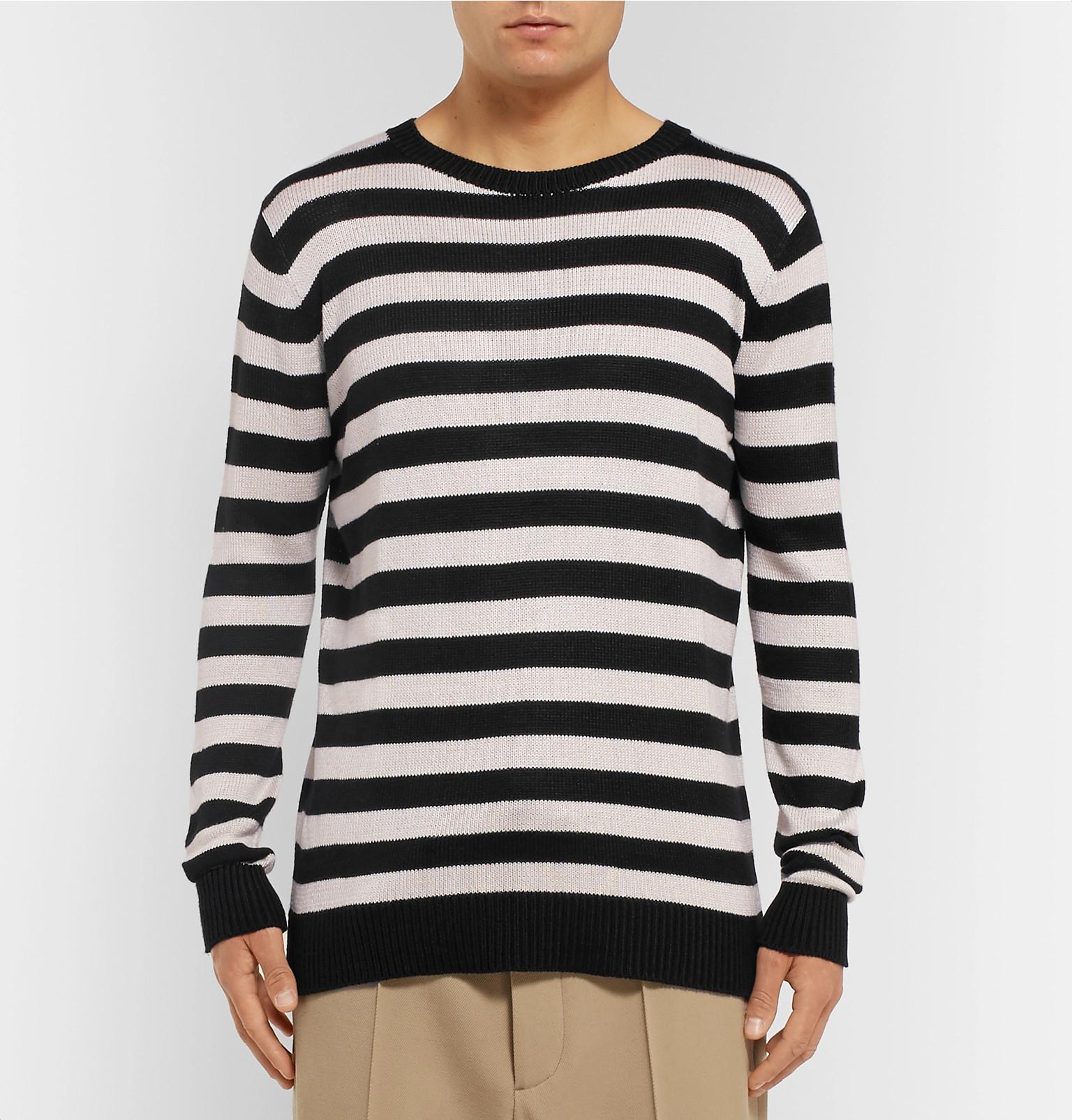 Statesman Sweater The Elder Striped Silk 7187XqO