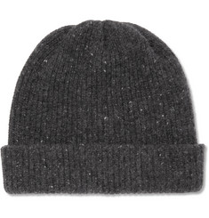 The Elder Statesman - Ribbed Mélange Cashmere Beanie