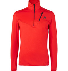 Salomon Discovery Half-Zip Stretch-Jersey Mid Layer