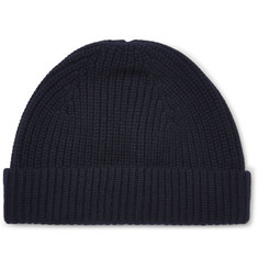 A.P.C. Paul Ribbed Wool and Cashmere-Blend Beanie