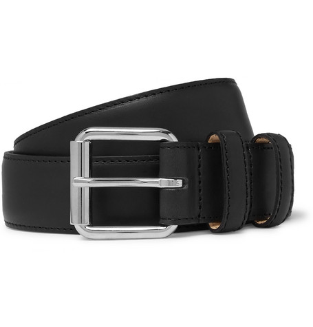 3cm Black Paris Leather Belt by A.P.C.