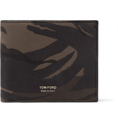 TOM FORD - Camouflage-Print Nubuck Billfold Wallet