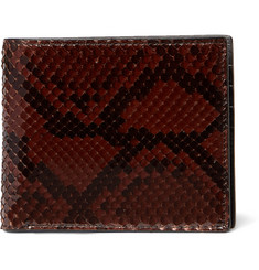 TOM FORD Glossed-Python Billfold Wallet