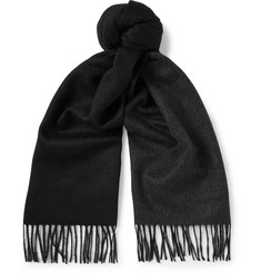 TOM FORD - Two-Tone Fringed Cashmere Scarf