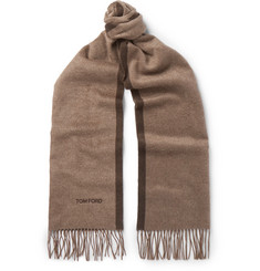 TOM FORD - Contrast-Tipped Fringed Silk Scarf