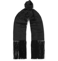 TOM FORD Fringed Silk Scarf