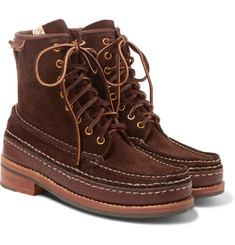 visvim - Grizzly Leather-Trimmed Suede Boots