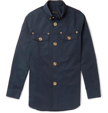 Button-down Collar Cotton-twill Shirt