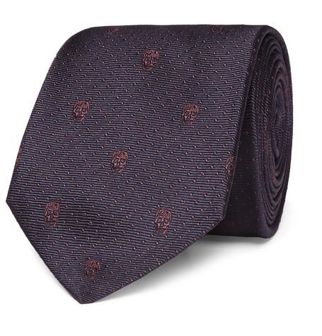 7cm Skull-jacquard Silk-twill Tie