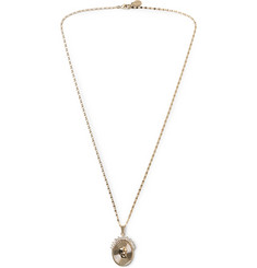 Alexander McQueen Gold-Tone Crystal Necklace