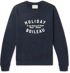 Holiday Boileau Printed Fleece-Back Cotton-Jersey Sweatshirt