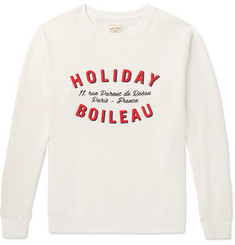 Holiday Boileau - Printed Fleece-Back Cotton-Jersey Sweatshirt