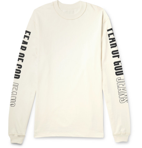 Oversized Printed Cotton-jersey T-shirt - Off-white