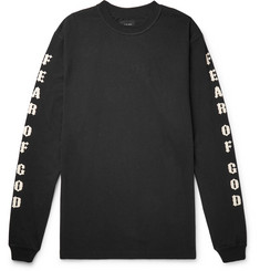Fear of God + Warren Lotas Oversized Printed Cotton-Jersey T-Shirt