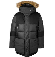 The North Face Vostok Faux Fur-Trimmed Quilted Ripstop Hooded Down Parka