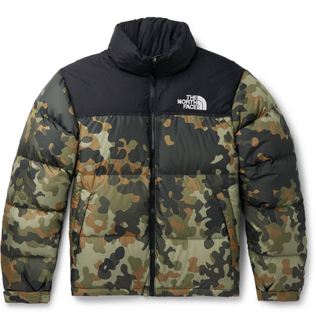 f415c336010e4 The North Face 1996 Nuptse Camouflage-Print Quilted Ripstop Down Jacket In  Army Green