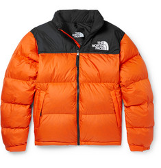 1996 Nuptse Colour-block Quilted Ripstop Down Jacket - Orange
