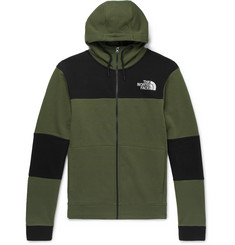 The North Face Himalayan Colour-Block Fleece-Back Cotton-Jersey Zip-Up Hoodie