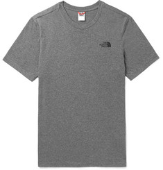 The North Face - Dome Logo-Print Mélange Cotton-Blend Jersey T-Shirt