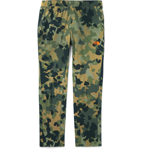 Mountek Camouflage Print Stretch Shell Trousers by The North Face