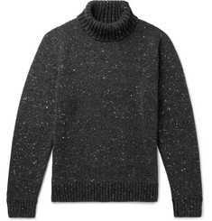 Donegal Merino Wool And Cashmere Blend Rollneck Sweater by Inis Meáin