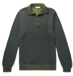 Inis Meáin Alpaca And Silk-Blend Half-Zip Sweater