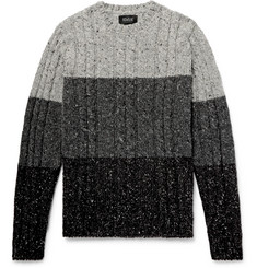 Howlin' Little Larry Cable-Knit Colour-Block Mélange Wool Sweater