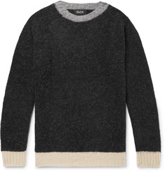 Howlin' Captain Harry Contrast-Trimmed Brushed Wool Sweater