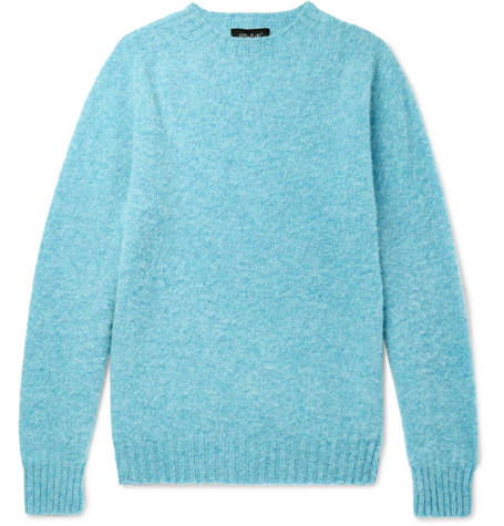 HOWLIN' Birth Of The Cool Brushed Virgin Wool Sweater - Blue