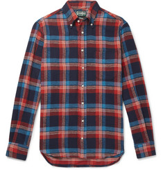 Gitman Vintage Button-Down Collar Checked Cotton-Twill Shirt