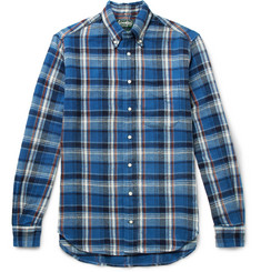 Gitman Vintage - Button-Down Collar Checked Cotton-Twill Shirt