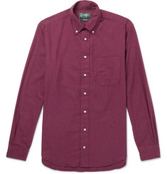 Gitman Vintage Slim-Fit Button-Down Collar Cotton-Flannel Shirt