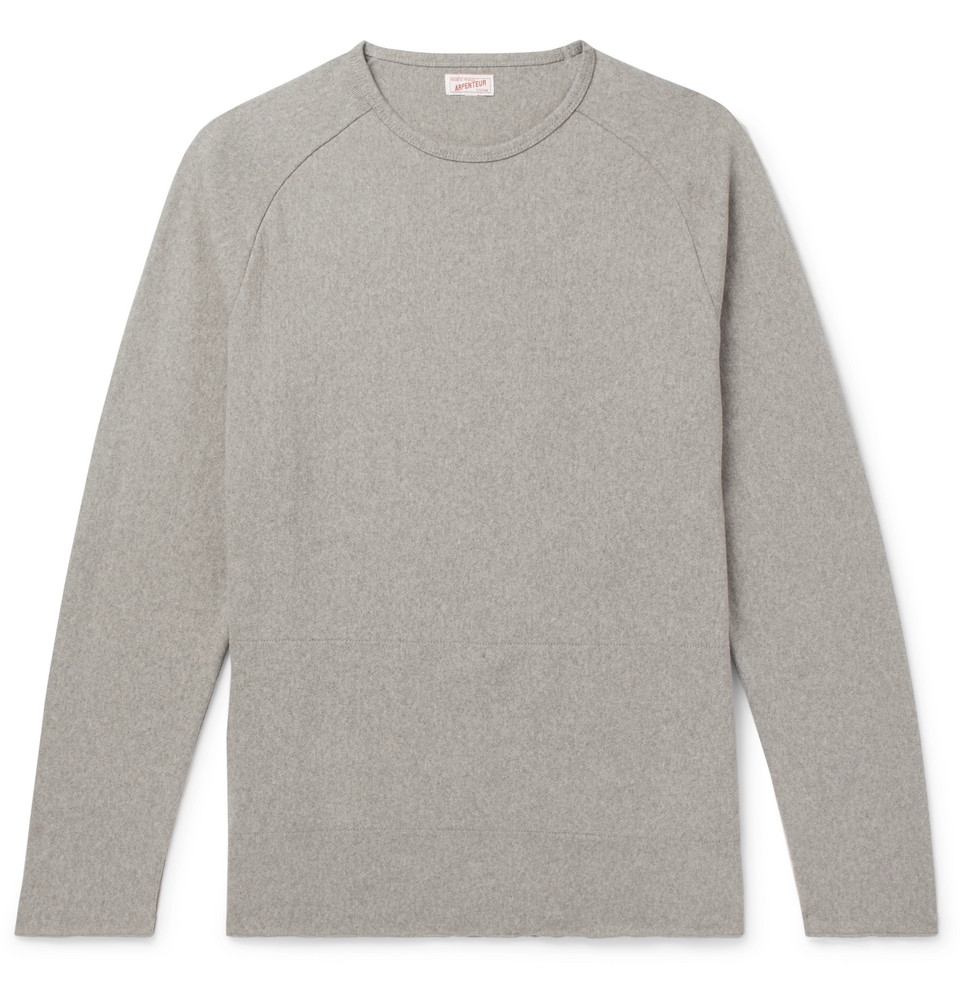 Combed Cotton-jersey T-shirt - Gray