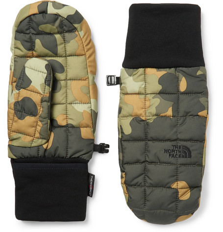 The North Face Camouflage-Printed Quilted Shell ThermoBall Mittens