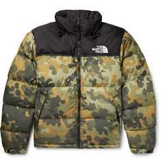 The North Face 1996 Retro Nuptse Quilted Camouflage-Print Shell Down Jacket