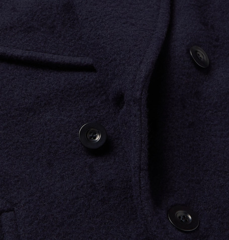 2755dc0c2bb Double-Breasted Virgin Wool and Cashmere-Blend Bouclé Peacoat