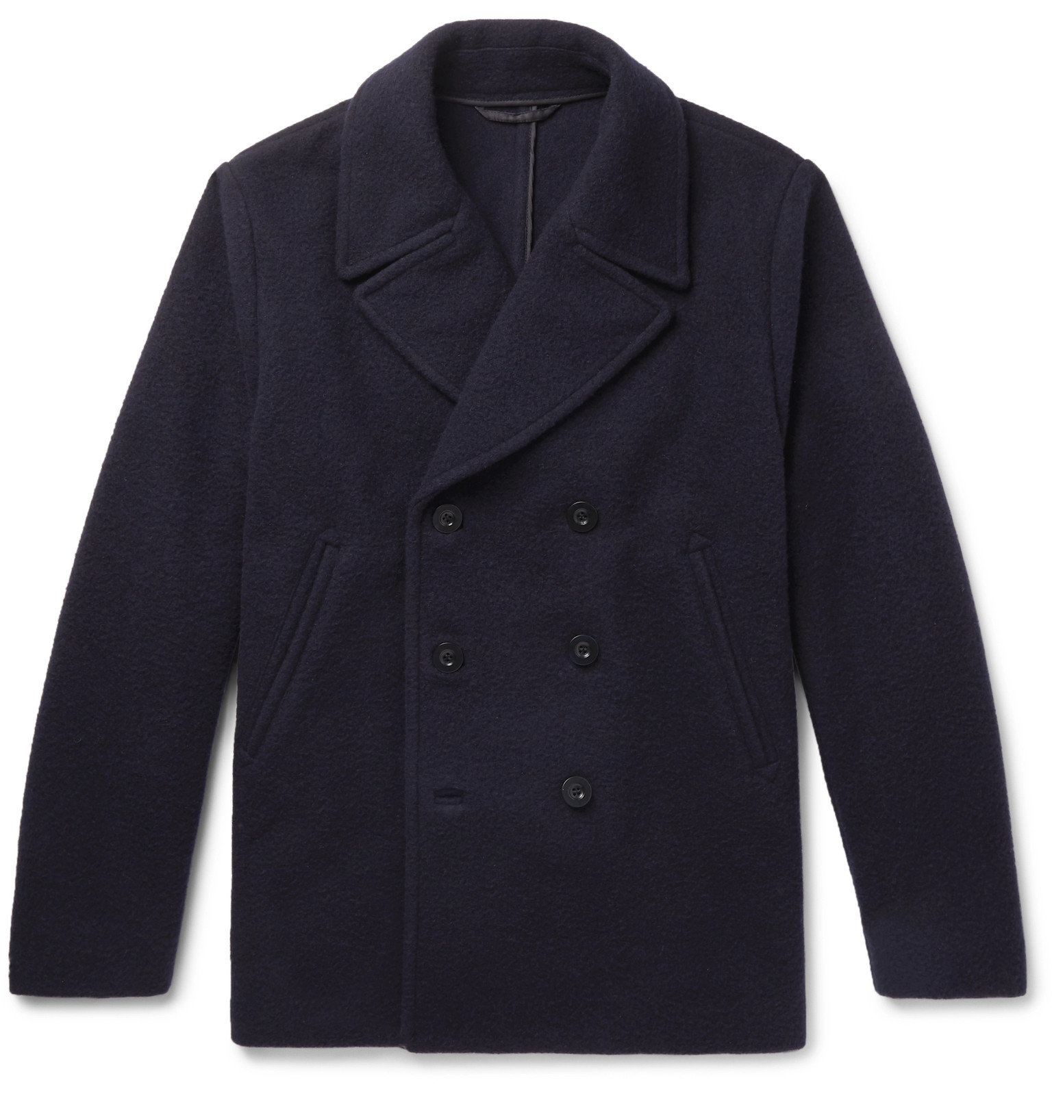 aacb1af989a Mr P.Double-Breasted Virgin Wool and Cashmere-Blend Bouclé Peacoat