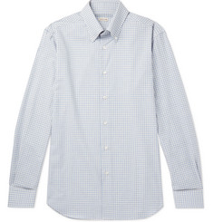 Caruso Slim-Fit Button-Down Collar Gingham Cotton Shirt