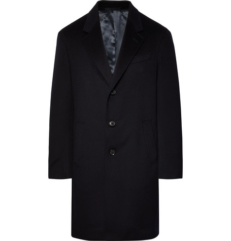 CARUSO SLIM-FIT WOOL AND CASHMERE-BLEND OVERCOAT