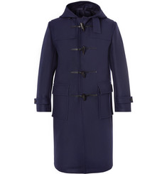 Mackintosh Leather-Trimmed Wool-Felt Duffle Coat
