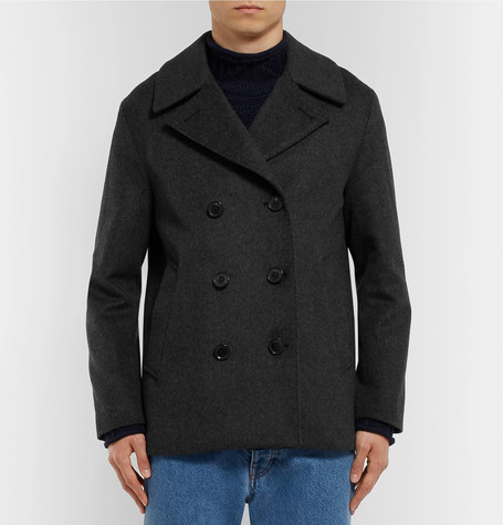 Double Breasted Wool And Cashmere Blend Peacoat by Mackintosh