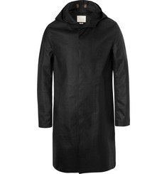 Mackintosh Bonded Wool and Cotton Hooded Coat