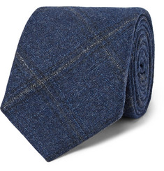 Altea 8.5cm Checked Wool, Silk and Cashmere-Blend Tie