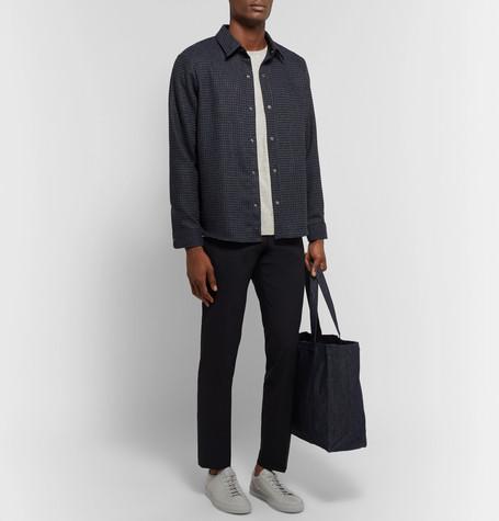 Lerik Houndstooth Wool Blend Jacquard Overshirt by Nn07